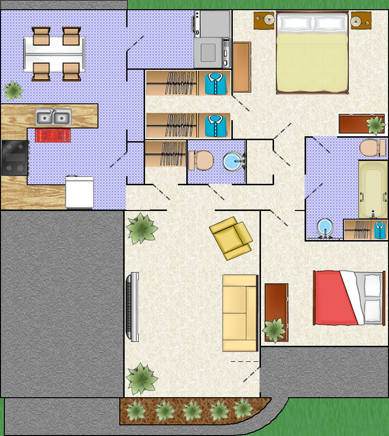 Search patio homes commercial space for rent floor plan for Patio house plans